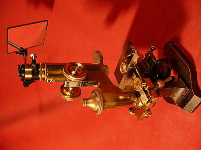 ANTIQUE Fine and rare. Large LEITZ Research Microscope