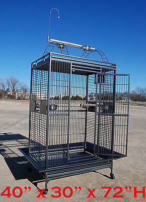 """XX Large 40""""Wx30""""x72""""H Parrot Cage For Macaw Cockatoo African Grey Amazon 348"""