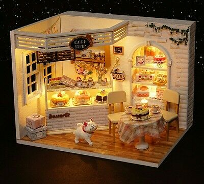 Doll House DIY Cake Shop With Furniture 1:24 scale