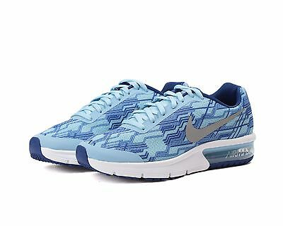 NEW Nike Air Max Sneakers Sequent Print Grade School Girls Running Shoes Size 6