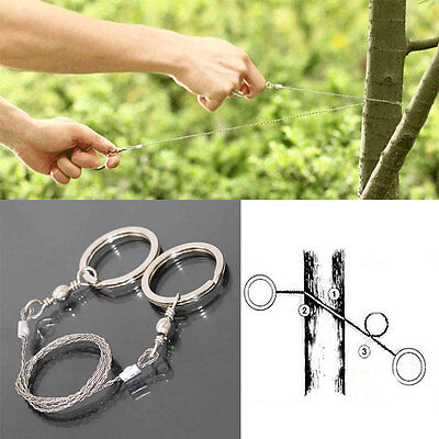 Metal Steel Wire Saw Bushcraft Hunting Camping Emergency Survival Gear Tools