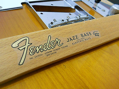 Replacement decal for 1962-1965 Fender JazzBass Decal Vintage Logo