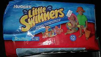 New Huggies Little Swimmers Swim Diapers Size Large Nemo and Tigger 10 Count