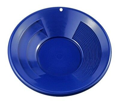 "10"" Blue Dual Riffle Plastic Gold Pan Nugget Mining Dredging River Panning - NEW"