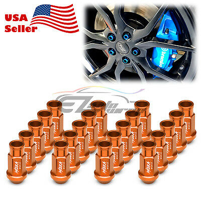 Orange 20 PCS M12X1.25 Screw Lug Nuts Short Tuner Aluminum Wheels Rims Cap WN01