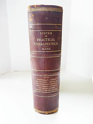 Antique Medical Book Illustrated 1897 From Doctors Estate