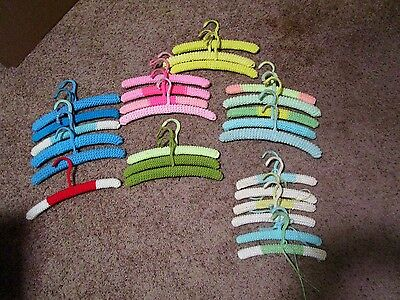 Lot of 27 Vintage Crochet Knitted Mid-Century children's Clothes Hangers