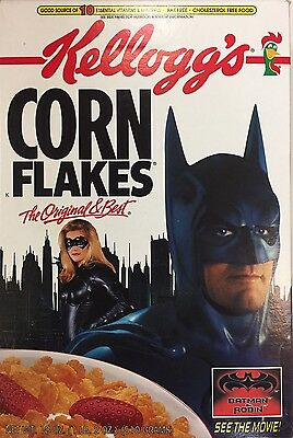 "Kellogg's Corn Flakes ""batman & Robin"" Cereal Box — 1997 — George Clooney"