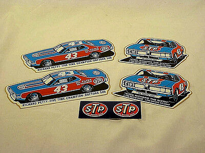 Vintage STP Sticker Set - Richard Petty #43 NASCAR Racing Set