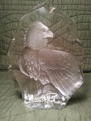 MATS JONASSON Crystal Eagle Signed and Numbered!