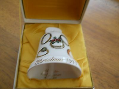 1977 Christmas Noritake Limited Sixth Edition Bone China Bell
