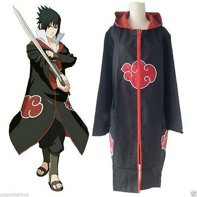 Anime NARUTO Uchiha Itachi Cosplay Costume CloaK Akatsuki Ninja Wind Coat S
