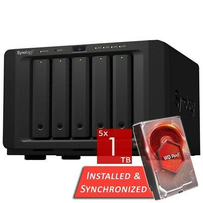 Synology DiskStation DS1517+ 8GB 5 Bays NAS + 5TB 5x WD 1TB WD10EFRX