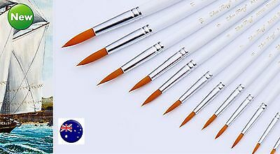 12PC  Wooden Oil Painting Brushes Set Acrylic Watercolor Artist Face Paint Craft