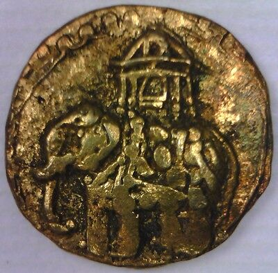 GOLD Elephant FANAM 1700s India Mysore Independent Kingdoms Indian Howdah Saddle