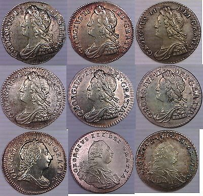 Maundy Penny Lot 1735-1800 *XF-Unc* Great Britain 1 Pence 1795 1772 George 2 3 4