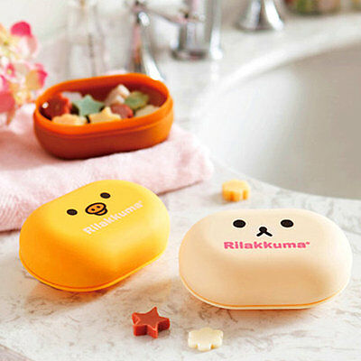 New Travel Cartoon Soap Dish Box Case Holder Container Wash Shower Home Bathroom