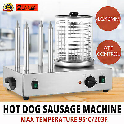 Machine à hot-dog  4 plot saucisse Roll Grill Professional Muffin French