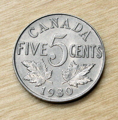 1930 Canada 5 Cents