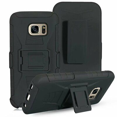 Hybrid Rugged Armor Impact Hard Case Belt Clip Holster Kickstand Cover For Phone