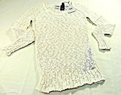 Harley-Davidson Women s Cream Embroidered Boucle Knit V Neck Sweater Small  New aacfb09e24b