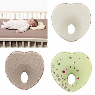 Newborn Infant Baby Anti Roll Pillow Sleep Positioner Prevent Flat Head Cushion