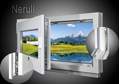 Kellerfenster - 2-fach, BxH 50x75 cm & 500x750 mm, DIN links