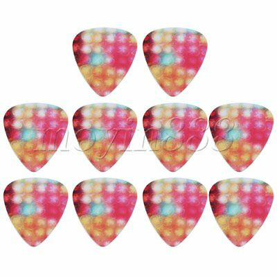 10x Multicolor Light Pattern 0.71mm Thickness Plastic Guitar Picks