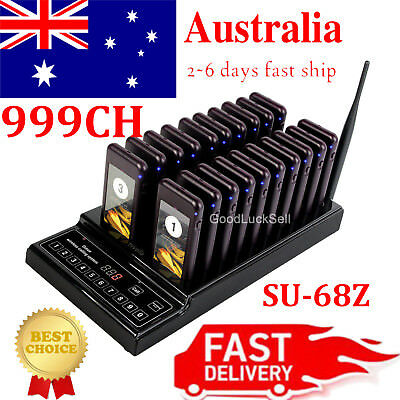 20 Restaurant Coaster Pager Guest Call Wireless Paging Queuing Call System 999CH