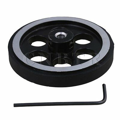 Aluminum Encoder Wheel Meter Wheel for Rotary Encoder 200mmx5mm w/Wrench