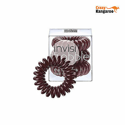 Invisibobble Chocolate Brown Traceless Hair Rings Pack of 3 Free Delivery