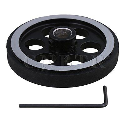 Aluminum Encoder Wheel Meter Wheel for Rotary Encoder 200mmx10mm w/Wrench