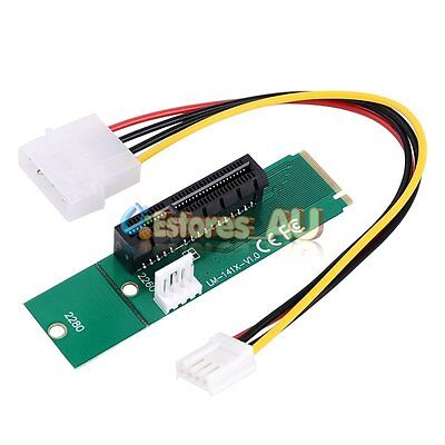 New Durable High Speed PCI-e 1X/4x Card to NGFF M.2 M Key PCIe Slot Adapter【AU】