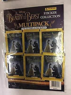 Panini Disney Beauty And The Beast Enchanted Stickers For Album Multipack 6 Pack