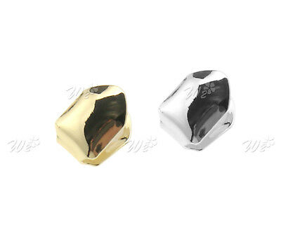 Single Plated Hip Hop Teeth Custom Tooth Cap Grill w/ Manual Silver/Gold