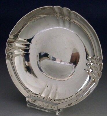 QUALITY ART DECO ENGLISH STERLING SILVER DISH BOWL 1948 WAKELY & WHEELER 63g