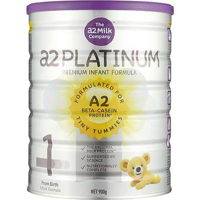 2 x A2 Platinum Infant Formula Stage 1 0-6 Months 900g 婴儿配方奶粉