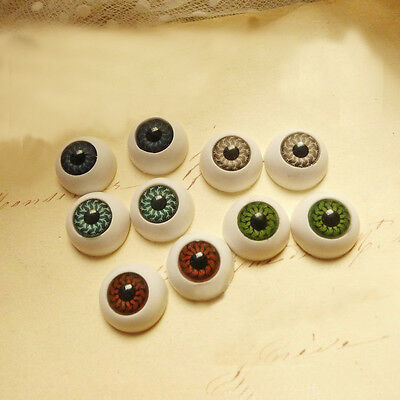 New 8X Eyes Eyeballs Fit into Mask Skull Halloween Party Props 15x8mm Half Round