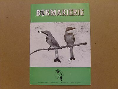 Bokmakierie Magazine - September 1967 - South African Ornithological Society