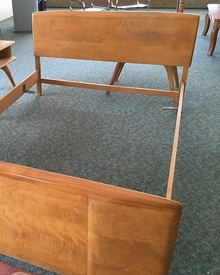"Heywood Wakefield Bedroom Set -  2 Piece Vintage Full  54"" Bed  plusTall Dresser"