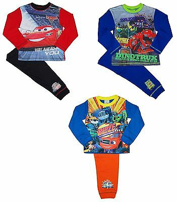 Boys Pyjamas Blaze Machines Disney Cars Dinotrux 18-24 Months to 9-10 Years