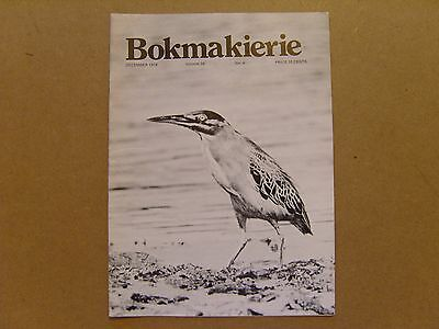 Bokmakierie Magazine - December 1974 - South African Ornithological Society