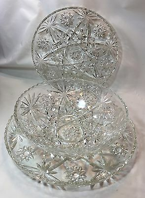 "Anchor Hocking EAPC ""ATOMIC"" (Set of 3) Dishes: 2 Plates and Bowl Star of David"