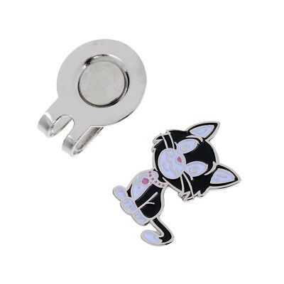 Alloy Black Cat Golf Hat Clip with Magnetic Ball Marker Golf Accessories
