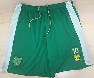 Official Norwich City Fc 2016-17 Player Worn Training Shorts
