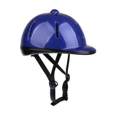 Kids Horse Riding Helmet Safety Hat Equestrain Air Vented Hat Blue