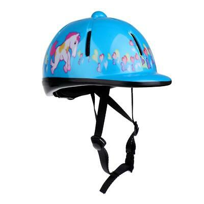 Kids Horse Riding Helmet Safety Hat Equestrain Air Vented Hat Sky Blue