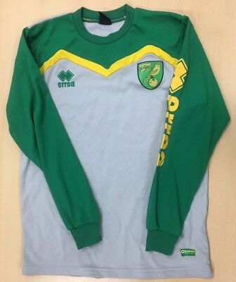 Official Norwich City Fc Player Worn Training Sweatshirt