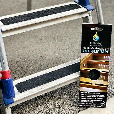 Loft Ladder Anti Non Slip Strong Textured Safety Stair Step Treads Black Clear