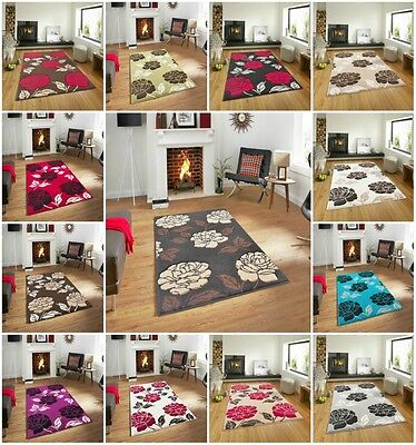 New Florence 91 Rug Carpet Polypropylene Anti allergic Floral Soft